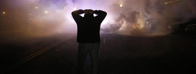 Image of Protesters Respond to Ferguson Grand Jury Decision