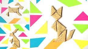 Turn Sandwiches into Tangram Puzzles