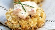 Crab Cakes with Roasted Pepper and Garlic Aioli