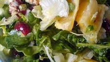 Spinach Salad with Warm Cranberry Vinaigrette