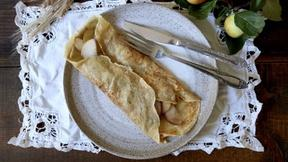 Make Rye Crepes with Pear and Cheddar