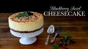 Bake a Blackberry Swirl Cheesecake