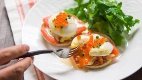Prepare Eggs Royale for Breakfast