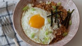 Prepare Kimchi Fried Rice for Dinner