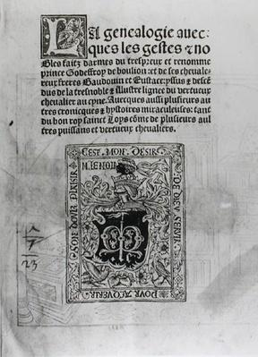 Geneology and Nobles Deeds of Knights, 1504