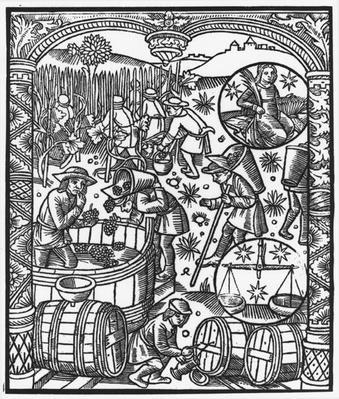 September, from the 'Almanach des Bergers', 1491