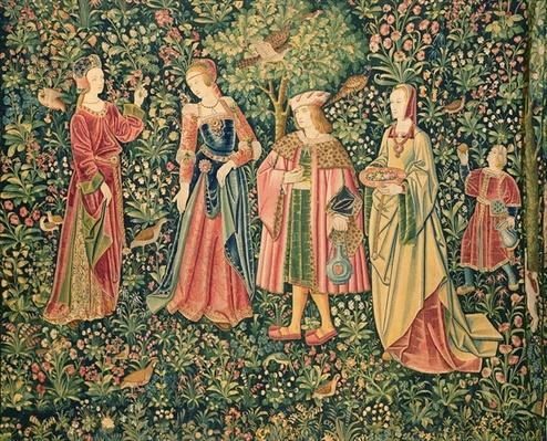 la vie seigneuriale: the promenade, loire workshop, c.1500