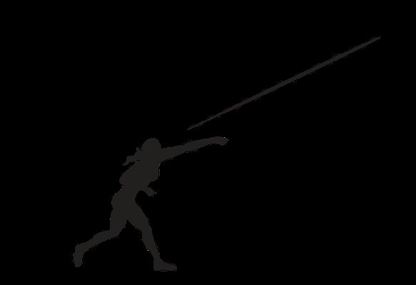 Javelin silhouette  Etsy