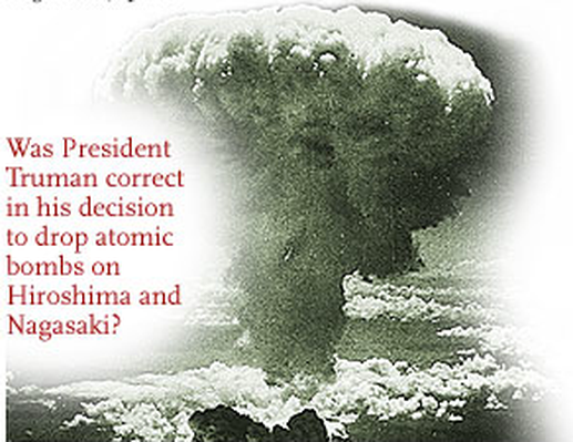 president trumans decision to drop the atomic bomb in hiroshima and nagasaki in 1945 The us decision to drop atomic bombs on hiroshima and nagasaki  and the  us president who took the decision, harry truman, was culpable, they add  of  history, an a-bomb was dropped on hiroshima on 6 august 1945,.