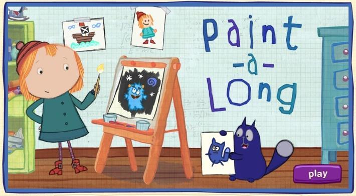 Paint-a-long   Peg + Cat