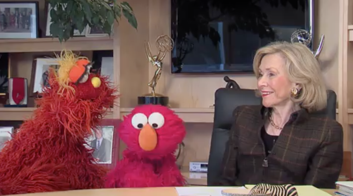 Joan Ganz Cooney, Elmo, and Murray Recite the Gettysburg Address
