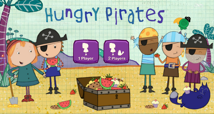 Hungry Pirates Game | Peg + Cat