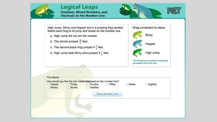 Logical Leaps | Fractions, Mixed Numbers, and Decimals on the Number Line