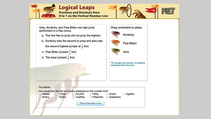 Logical Leaps | Fractions and Decimals from 0 to 1 on the Vertical Number Line