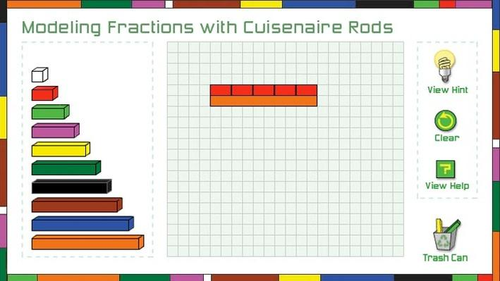 Modeling Fractions with Cuisenaire Rods | Math | Interactive | PBS ...