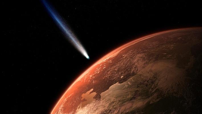 Comets Bombard the Early Earth