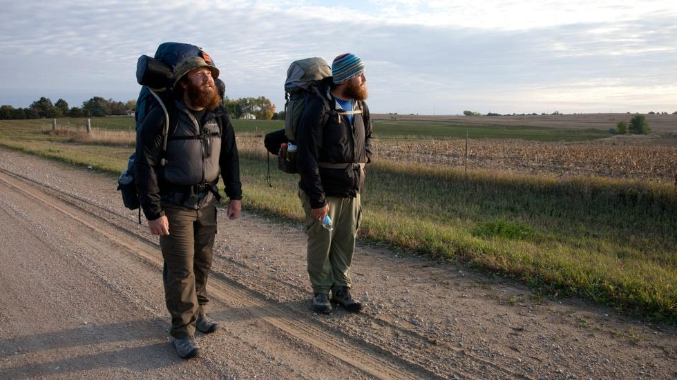 Vets walk 2,700 miles to call attention to post-war trauma image