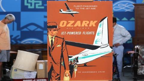 Antiques Roadshow -- Appraisal: Ozark Airlines Poster, ca. 1960