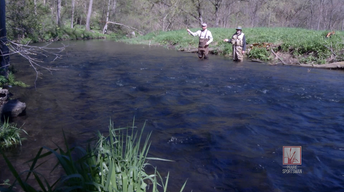 Fly fishing at Whitewater State Park