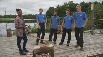 Angela Fitzgerald Learns What It Takes To Be A Lumberjack