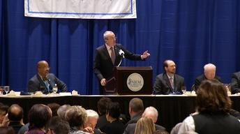Murphy outlines agenda at League of Municipalities event
