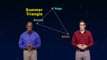"""The Stars in the Summer Triangle"" Aug 21-27th 1 Min"