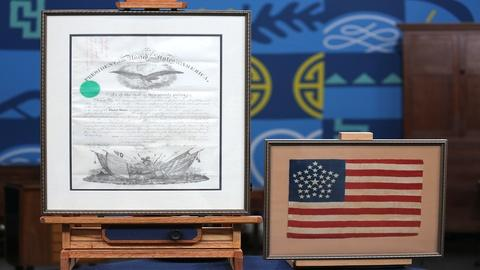 Antiques Roadshow -- Appraisal: Civil War Lincoln-Signed Commission &34-Star Flag