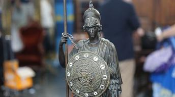 S22 Ep5: Appraisal: Athena Statue Bronze Clock, ca. 1850