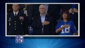 Mike Pence Colts' Game Walk Out - October 13, 2017