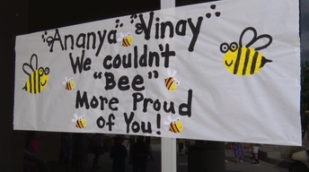 Spelling Bee Champion Honored at School