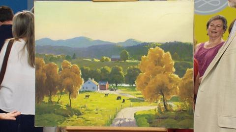 "Antiques Roadshow -- Appraisal: Harry Leith-Ross ""Connecticut Valley in Fall"" Oil"