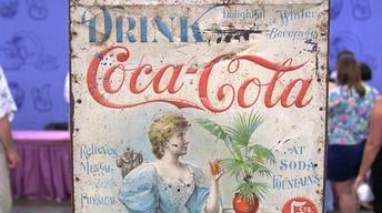 S21 Ep24: Appraisal: Tin Coca-Cola Sign, ca. 1890