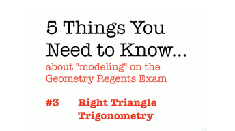 CC Geometry Right Triangle Trigonometry