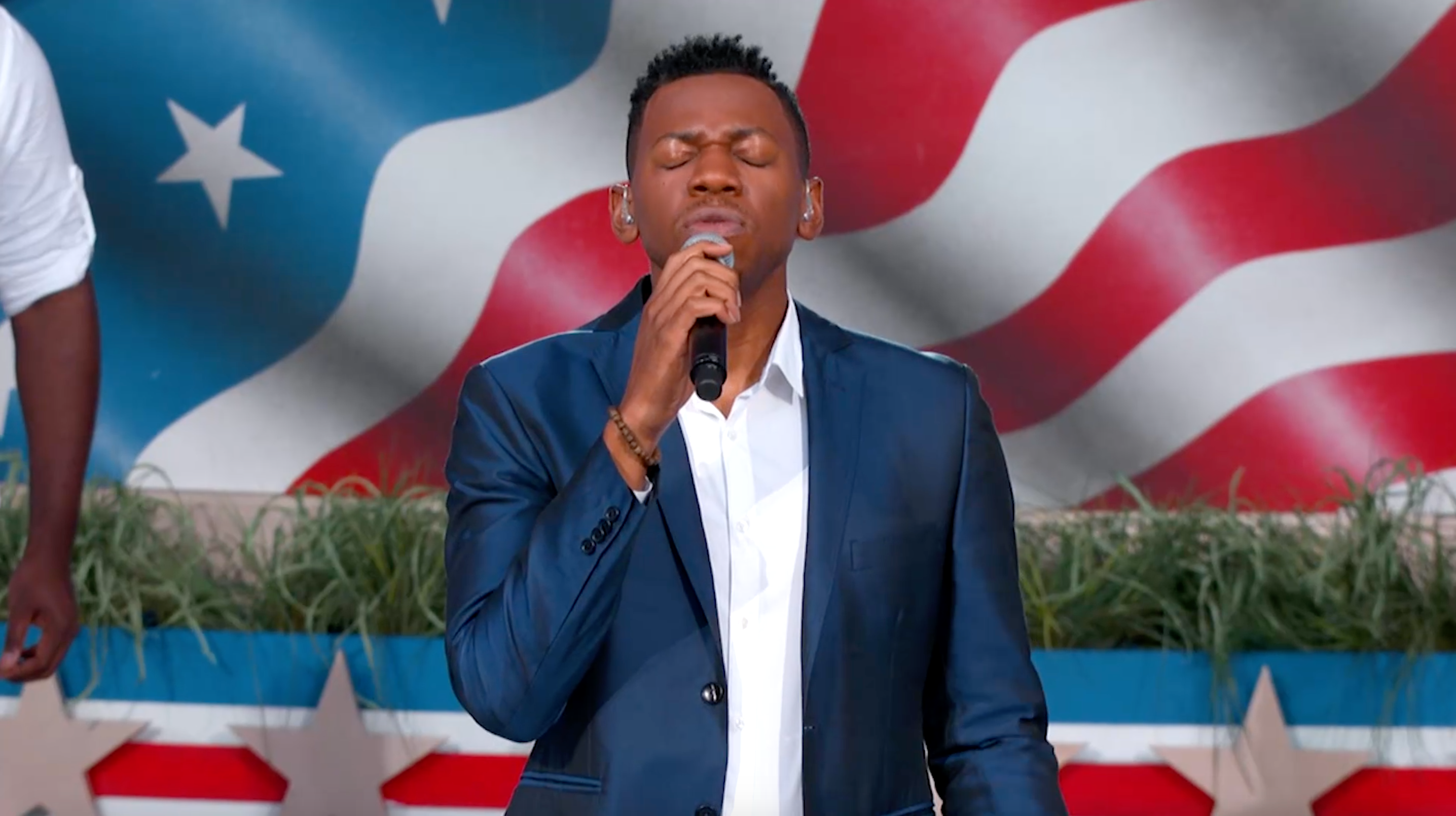 "Chris Blue Performs ""America the Beautiful"""