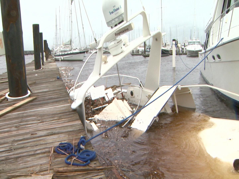 Hurricane Florence: New Bern Marina Damaged