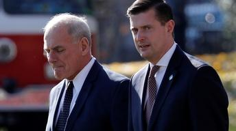 How is John Kelly's credibility hurt by Rob Porter scandal?