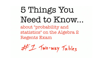 CC Algebra II Two Way Tables