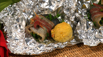 Simple Cooking: Smoked Bacon Wrapped Trout