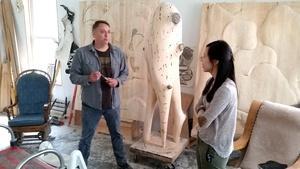 Carving for the Walker Art Center