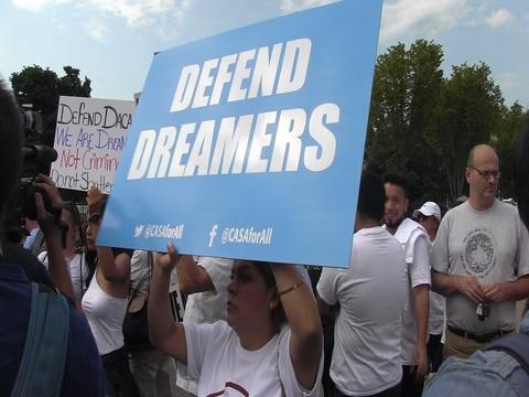 Dreamers Protest Donald Trump's Decision to End DACA