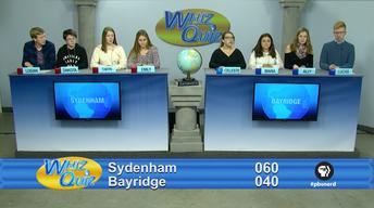 Canadian Final Sydenham vs. Bayridge 2017