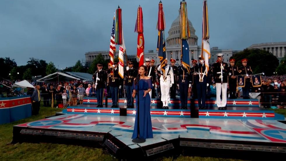 S2017 Ep1: Auli'i Cravalho Performs the National Anthem image