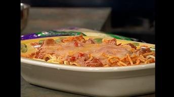 Chorizo and Sweet Italian Sausage Spaghetti