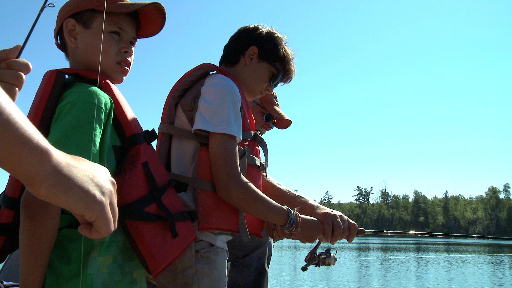 Author Michael Meuers & Darwin Sumner Fishing