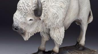 Rick Jensen: White Bison Woodcarving