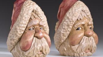 Rick Jensen: Santa Claus Woodcarvings