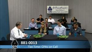 Tax Time: CPA's On Call 2017
