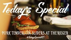 Pork Tenderloin Sliders at The Rieger