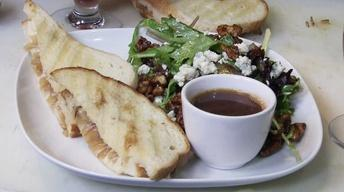 The Trappist Salad & Grilled French Onion Sandwich