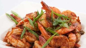 Sizzling Salt and Pepper Shrimp